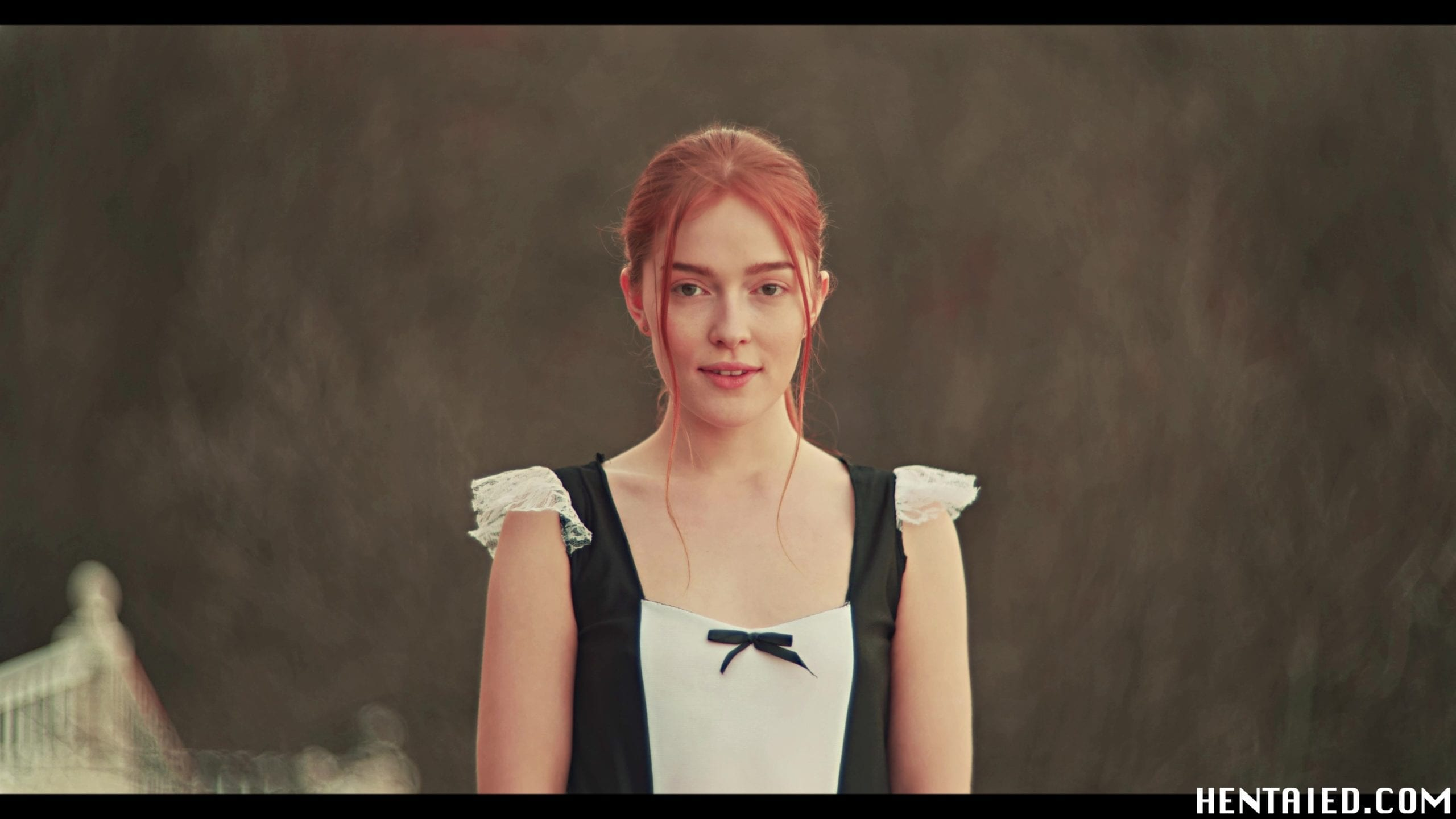 Cosplaying beautiful Jia Lissa in a maid costume