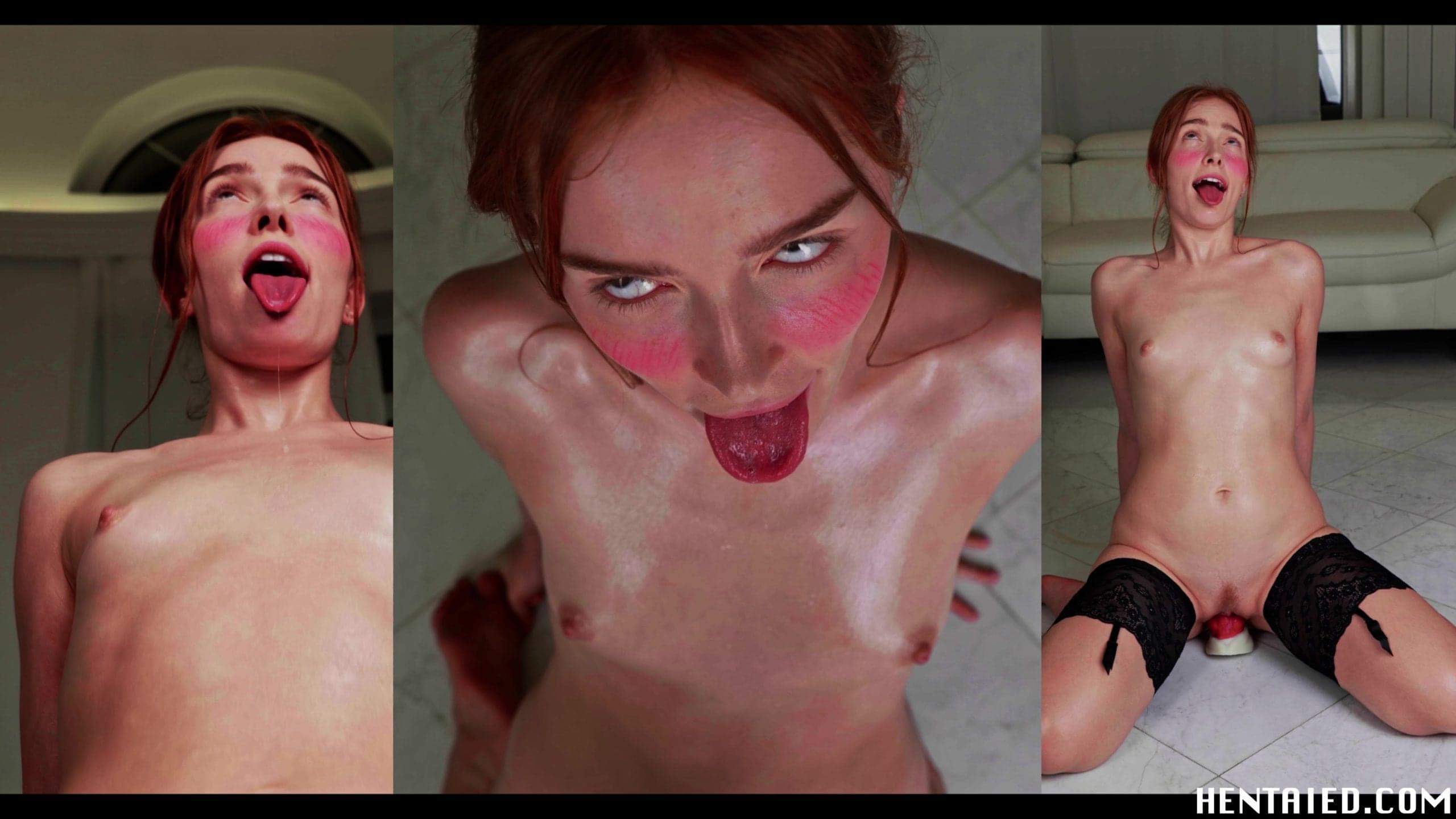 Ahegao faces of naked Jia Lissa