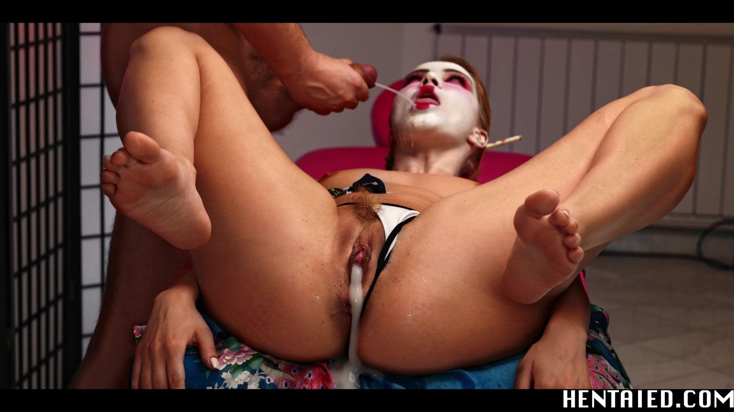Cherry Kiss creampie dick sucking