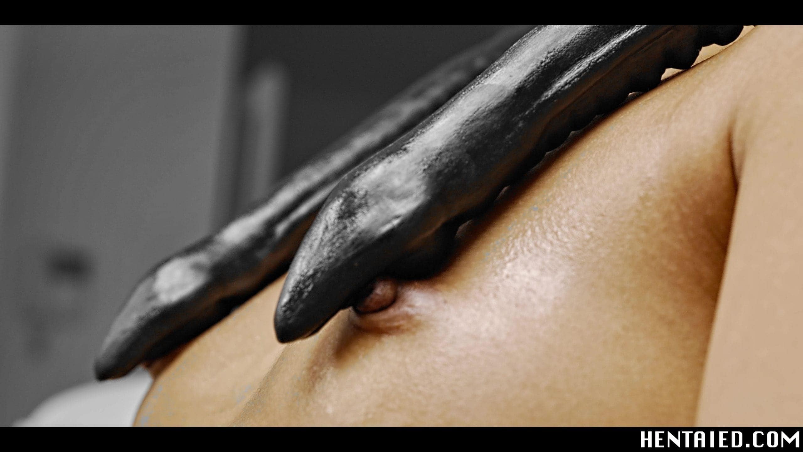 Alien tentacles touching nipples